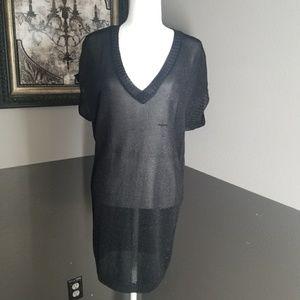 Arden B Black Knit Tunic